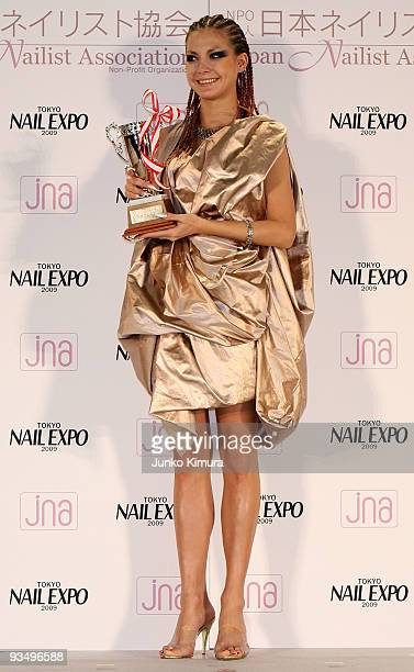 Singer Anna Tsuchiya attends the Nail Queen 2009 Awards Ceremony during the Tokyo Nail Expo 2009 at Tokyo Big Sight on November 30 2009 in Tokyo...