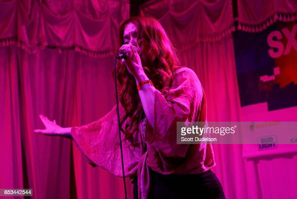 Singer Anna Wise performs onstage at the Swan Dive on March 14 2017 in Austin Texas