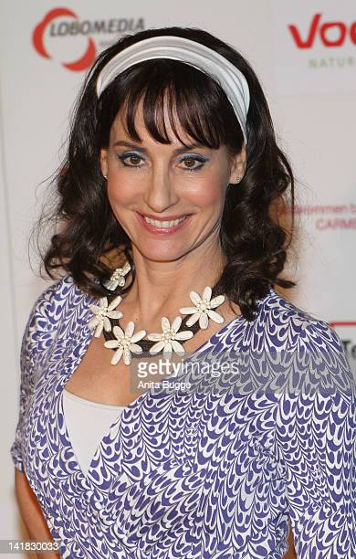 Singer AnnaMaria Kaufmann arrives to the Carmen Nebel Show after party at the hotel Maritim on March 24 2012 in Berlin Germany