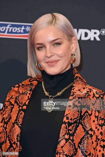 UK singer AnneMarie arrives at the 1Live Krone radio award red carpet at Jahrhunderthalle on December 6 2018 in Bochum Germany