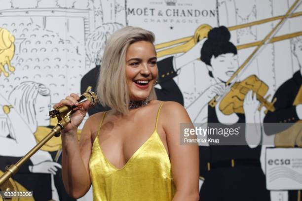 Singer AnneMarie attends Moet Chandon Grand Scores 2017 at Umspannwerk on February 2 2017 in Berlin Germany