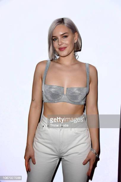 UK singer AnneMarie during The Dome 2018 music show on November 30 2018 in Oberhausen Germany