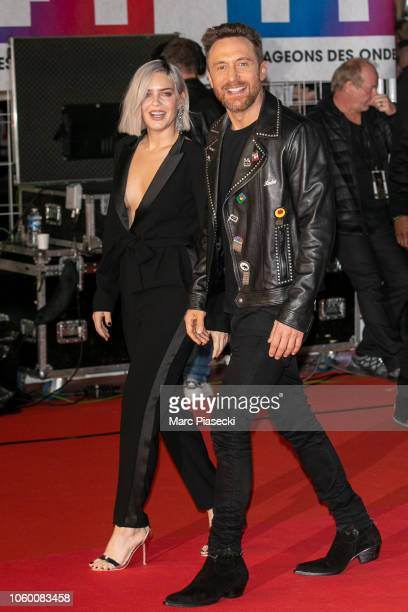 Singer AnneMarie Nicholson and DJ David Guetta attend the 20th NRJ Music Awards at Palais des Festivals on November 10 2018 in Cannes France