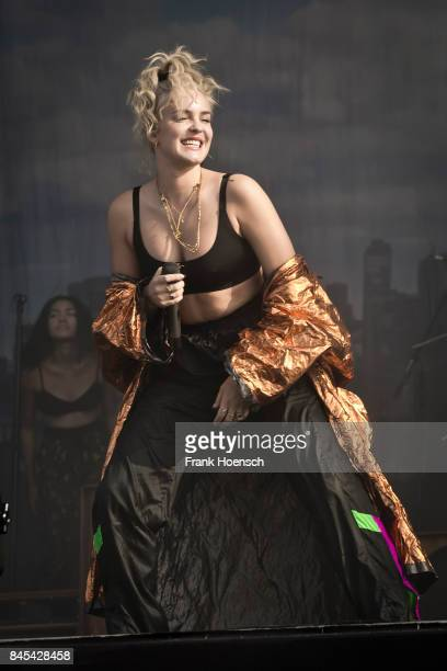 Singer AnneMarie Nicholson of the British band Rudimental performs live on stage during second day at the Lollapalooza Festival on September 10 2017...