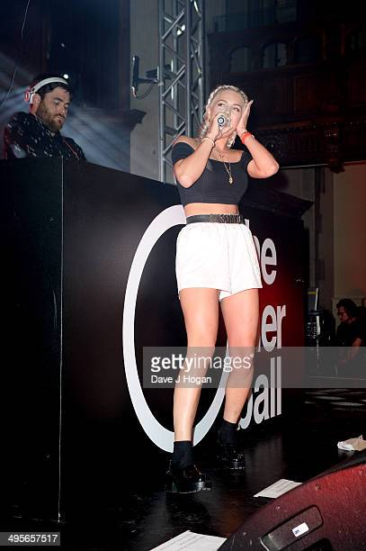 Singer AnneMarie Nicholson performs with Rudimental at The Other Ball in aid of Arms Around The Child at One Mayfair on June 4 2014 in London England