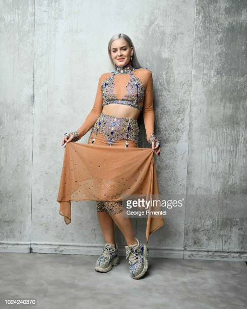 Singer AnneMarie poses in the 2018 iHeartRADIO MuchMusic Video Awards Portrait Studio at MuchMusic HQ on August 26 2018 in Toronto Canada