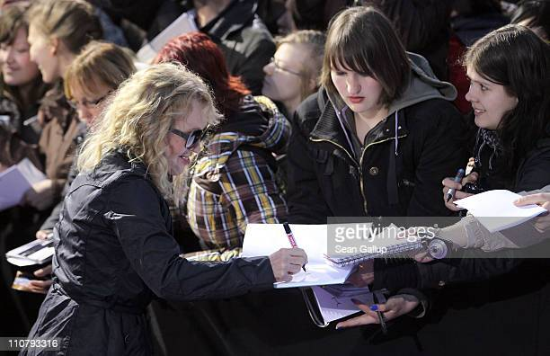 Singer Annette Humpe arrives for the Echo award 2011 at Palais am Funkturm on March 24 2011 in Berlin Germany