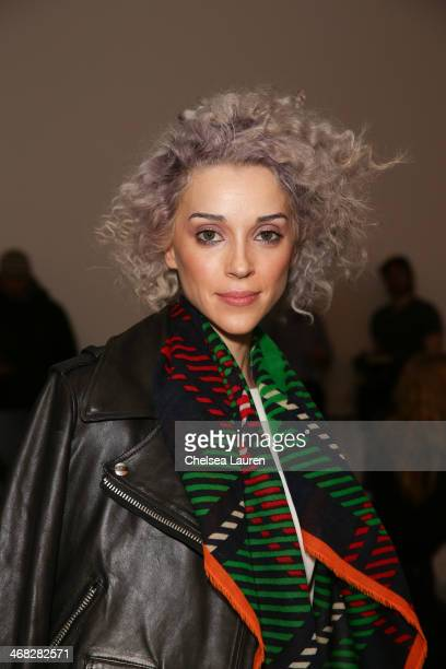 Singer Annie Clark attends the Opening Ceremony fashion show on February 9, 2014 in New York City.