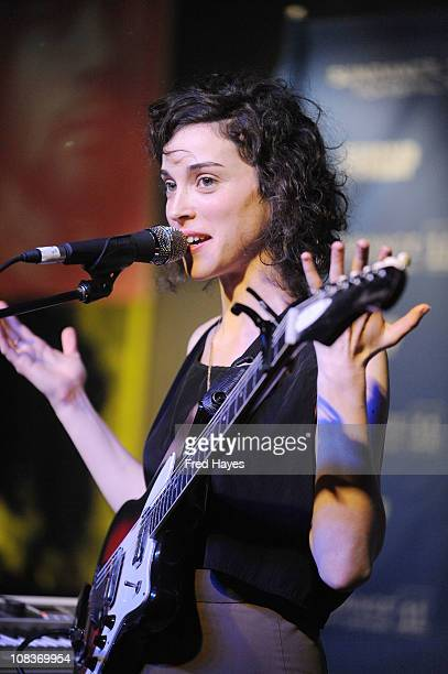Singer Annie Clark of St Vincent performs during the Music Cafe Day 6 at Sundance ASCAP Music Cafe during the 2011 Sundance Film Festival on January...