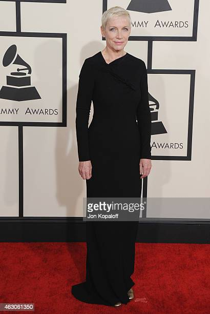 Singer Annie Lennox arrives at the 57th GRAMMY Awards at Staples Center on February 8 2015 in Los Angeles California