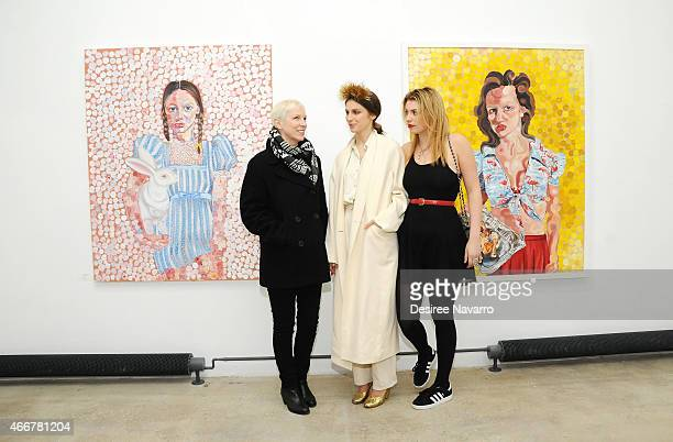 Singer Annie Lennox, artist Tali Lennox and Lola Fruchtmann attend Tali Lennox Exhibition Opening Reception at Catherine Ahnell Gallery on March 18,...