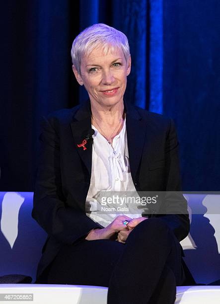Singer Annie Lennox attends Amnesty International USA's 50th Annual Gathering at New York Marriott Brooklyn Bridge on March 21 2015 in New York City