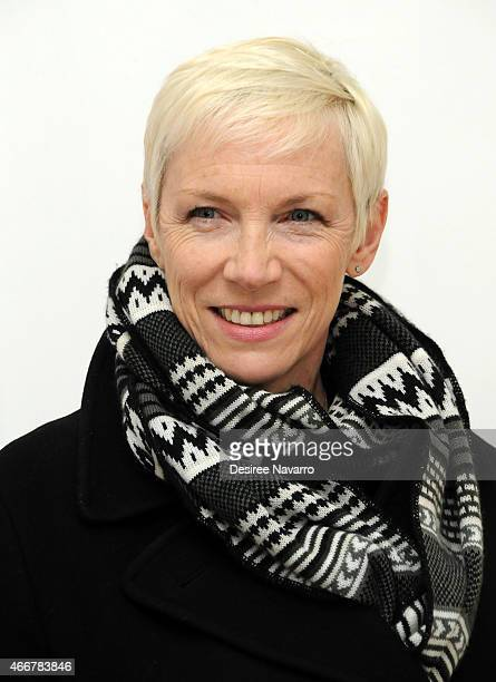 Singer Annie Lennox attends Tali Lennox Exhibition Opening Reception at Catherine Ahnell Gallery on March 18, 2015 in New York City.