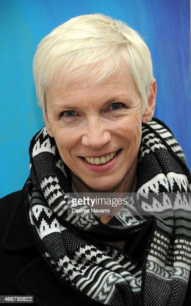 Singer Annie Lennox attends Tali Lennox Exhibition Opening Reception at Catherine Ahnell Gallery on March 18 2015 in New York City