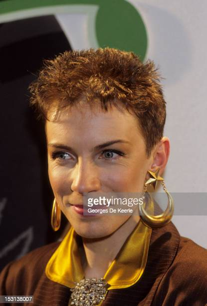 Singer Annie Lennox of Eurythmics attends the British Record Industry Awards aka the BRIT Awards at the Grosvenor House Hotel in London 10th February...