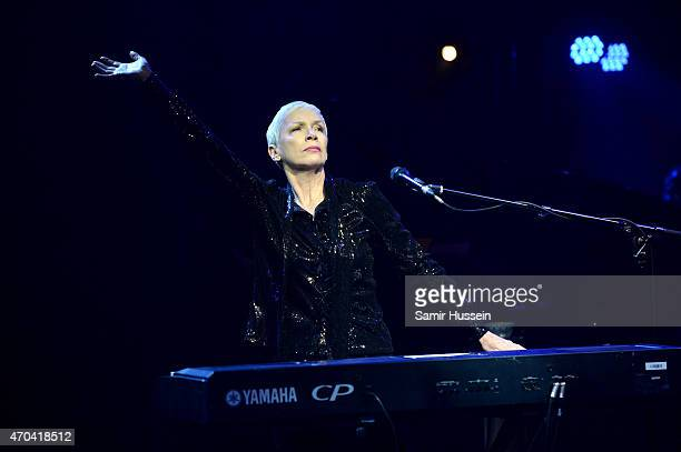 Singer Annie Lennox performs at The Old Vic Theatre during the gala celebration in honour of Kevin Spacey as the artistic director's tenure comes to...