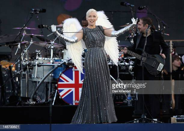 Singer Annie Lennox performs on stage during the Diamond Jubilee concert at Buckingham Palace on June 4 2012 in London England For only the second...