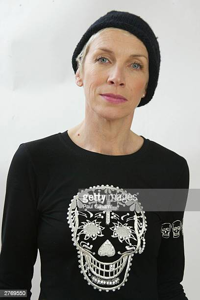 Singer Annie Lennox poses for a portrait in a studio at the 46664 Give One Minute of Your Life to AIDS concert at Greenpoint Stadium on November 29...