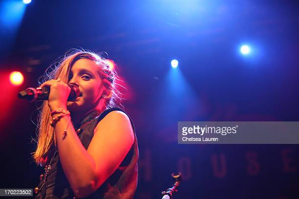 Singer Annika Rose performs at Hollywood Launch Academy's artist showcase at House of Blues Sunset Strip on June 8 2013 in West Hollywood California