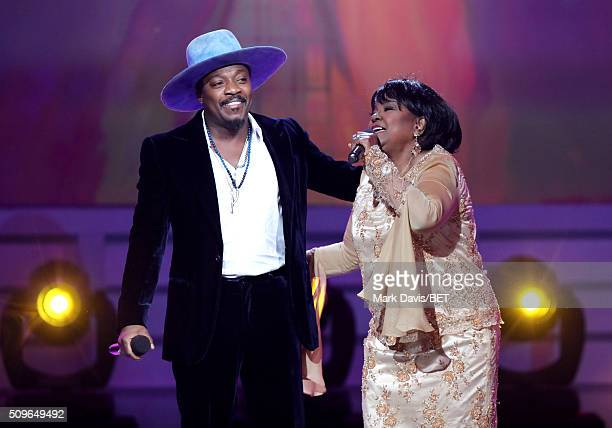 Singer Anthony Hamilton and Pastor Shirley Caesar perform onstage during BET Celebration Of Gospel 2016 at Orpheum Theatre on January 9 2016 in Los...