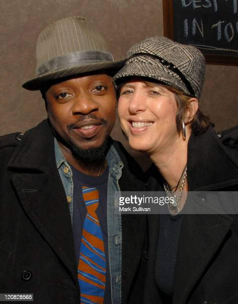 Singer Anthony Hamilton and songwriter Diane Warren attend the Kathy Nelson/American Gangster CD soundtrack celebration held on November 6 2007 in...