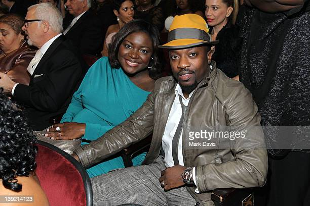 Singer Anthony Hamilton and Tarsha McMillan attend the 43rd NAACP Image Awards held at The Shrine Auditorium on February 17 2012 in Los Angeles...