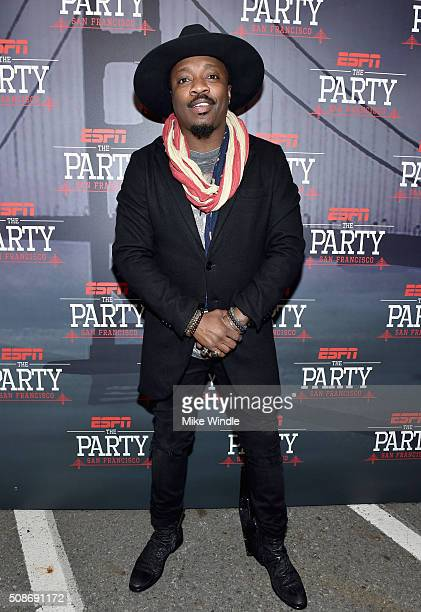 Singer Anthony Hamilton attends ESPN The Party on February 5 2016 in San Francisco California