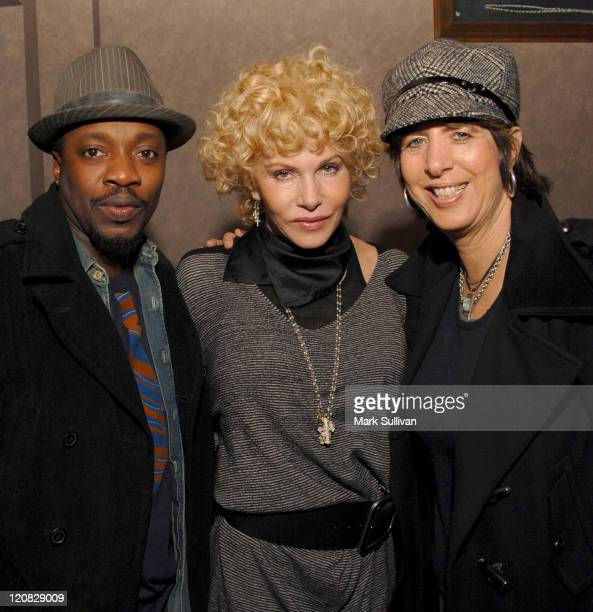 Singer Anthony Hamilton Kathy Nelson president music Universal Pictures and songwriter Diane Warren attend the Kathy Nelson/American Gangster CD...