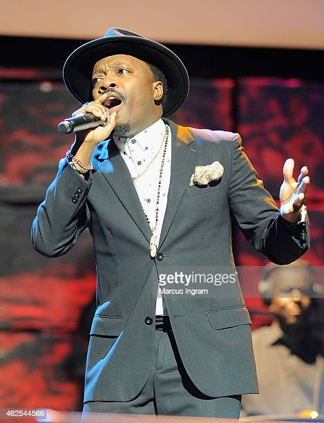 Singer Anthony Hamilton performs onstage during 16th Annual Super Bowl Gospel Celebration at ASU Gammage on January 30 2015 in Tempe Arizona