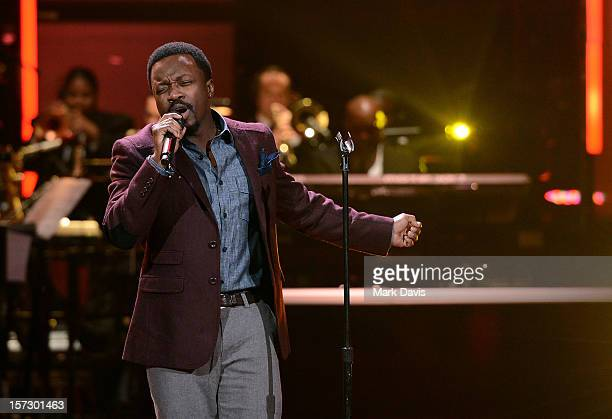 Singer Anthony Hamilton performs onstage during UNCF's 33rd annual An Evening Of Stars held at Pasadena Civic Auditorium on December 1 2012 in...