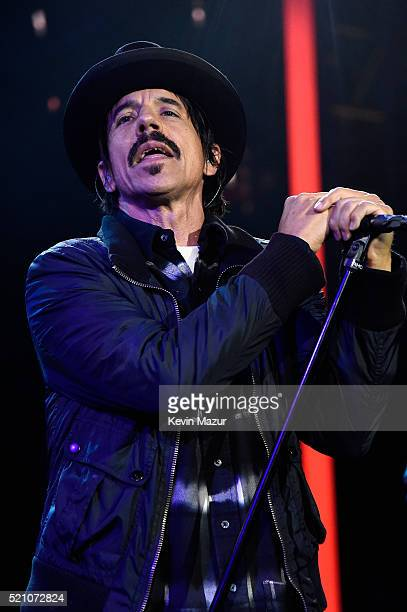Singer Anthony Kiedis of Red Hot Chili Peppers performs onstage during the launch of the Parker Institute for Cancer Immunotherapy an unprecedented...