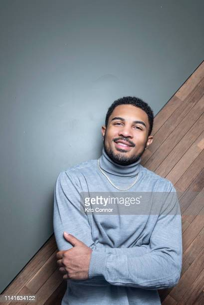 Singer Anthony Lewis poses for a portrait on April 26 2019 in Brooklyn New York