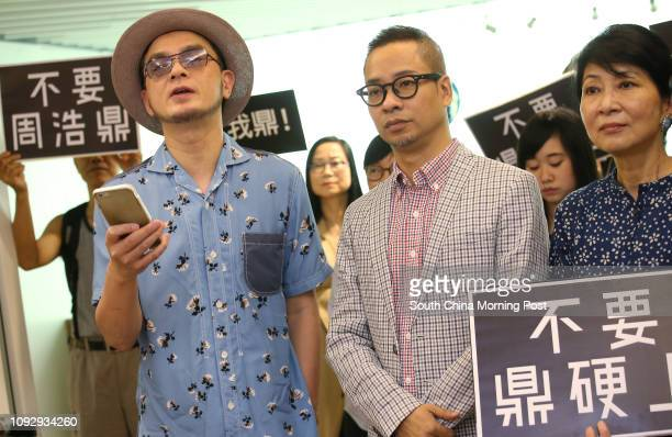 Singer Anthony Wong Yiuming Brian Leung Siufai Pressure and LGBT groups and Lawmakers Claudia Mo Manching demand proestablishment lawmaker Holden...