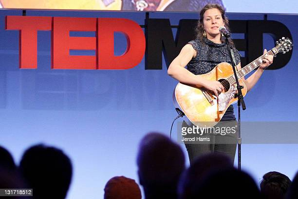 Singer Antje Duvekot performs at TEDMED on October 28 2010 in San Diego California