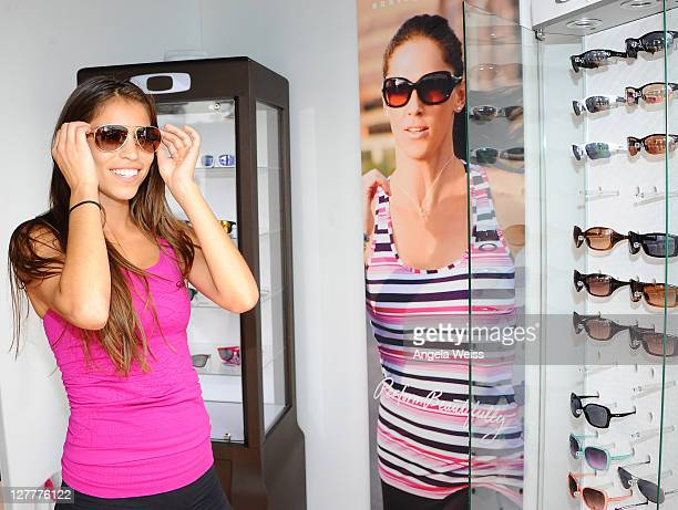 Singer Antonella Barba attends the Muscle Milk Fitness Retreat on June 16 2011 in Venice Beach California