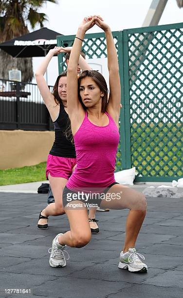 Singer Antonella Barba attends the Muscle Milk Fitness Retreat on June 16 2011 in Venice Beach California