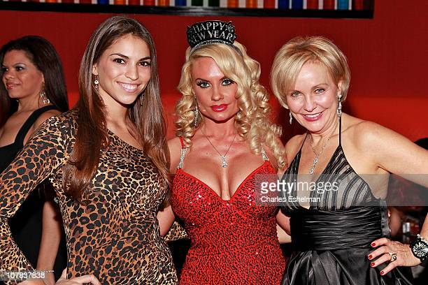 Singer Antonella Barba Coco and Kim G of 'Real Housewives of New Jersey'attend Noel Ashman's New Year's Eve 2011 at Nuela on December 31 2010 in New...