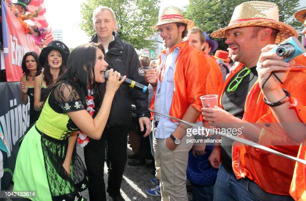 Singer Antonia aus Tirol parties at Schlager music parade Schlagermove 2013 in Hamburg Germany 29 june 2013 Under the motto 'Festival of love' fans...