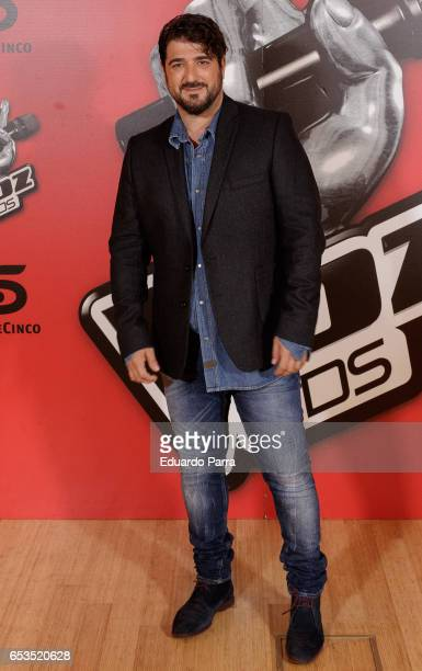Singer Antonio Orozco attends 'La Voz Kids 3' presentation at TeleCinco studios on March 15 2017 in Madrid Spain