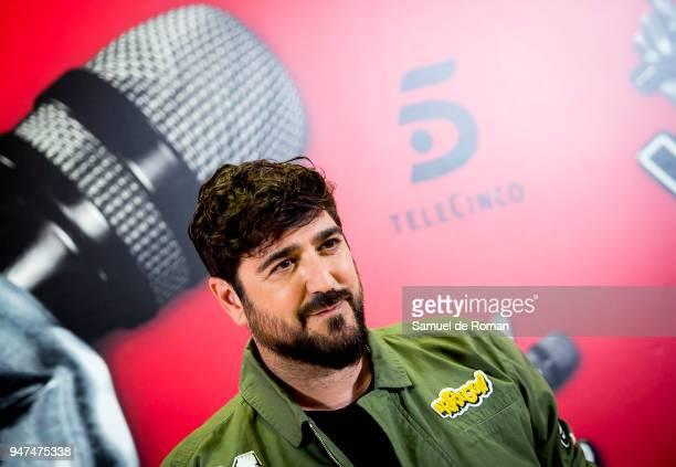 Singer Antonio Orozco attends ÕLa Voz Kids 4' Presentation in Madrid on April 17 2018 in Madrid Spain