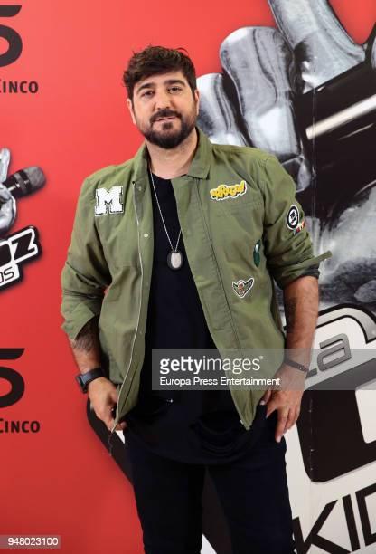 Singer Antonio Orozco attends 'La Voz Kids 4' presentation on April 17 2018 in Madrid Spain