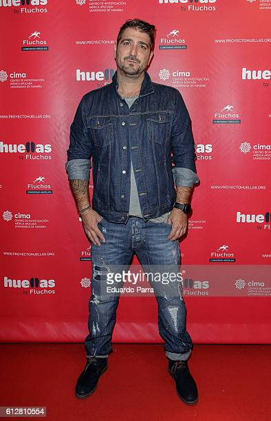 Singer Antonio Orozco attends the 'Huellas by Fluchos' charity campaign press conference at Museo Chicote on October 5 2016 in Madrid Spain