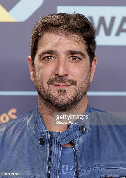 Singer Antonio Orozco attends the 'Los40 Music Awards 2016' photocall at Florida Park on October 5 2016 in Madrid Spain