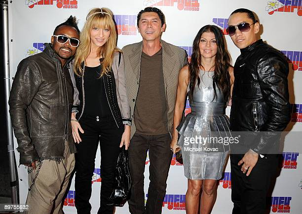 Singer apldeap Yvonne Marie Boismier Actor Lou Diamond Philips Singers Fergie and Taboo of the Black Eyed Peas arrive for the Black Eyed Peas'...