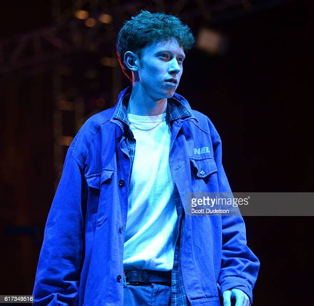 Singer Archy Marshall of the band King Krule performs onstage during the Beach Goth Festival at The Observatory on October 22, 2016 in Santa Ana,...