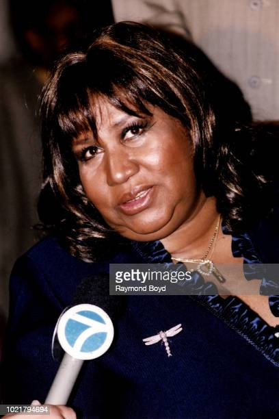 Singer Aretha Franklin is interviewed during 'It's All The Way Live With Levi 50 Years And Still Going' a tribute to Levi Stubbs Of The Four Tops at...