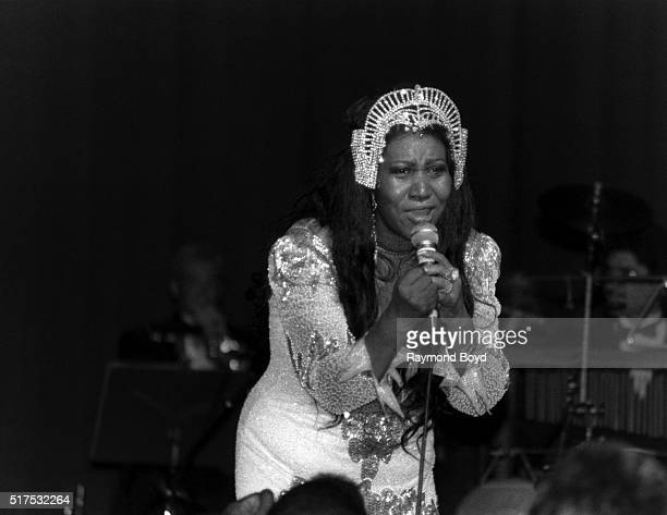 Singer Aretha Franklin performs at the Holiday Star Theater in Merrillville Indiana in 1991