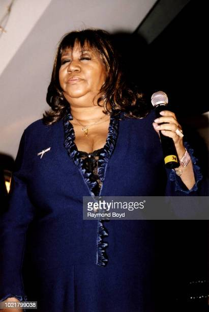 Singer Aretha Franklin performs during 'It's All The Way Live With Levi 50 Years And Still Going' a tribute to Levi Stubbs Of The Four Tops at the...