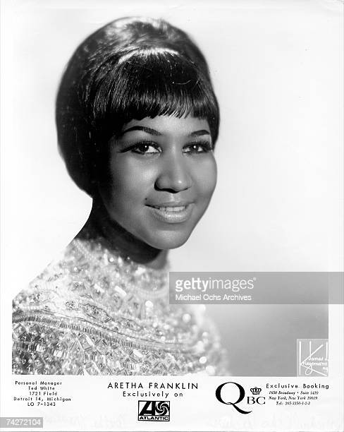 Singer Aretha Franklin poses for a portrait circa 1961 in New York City New York