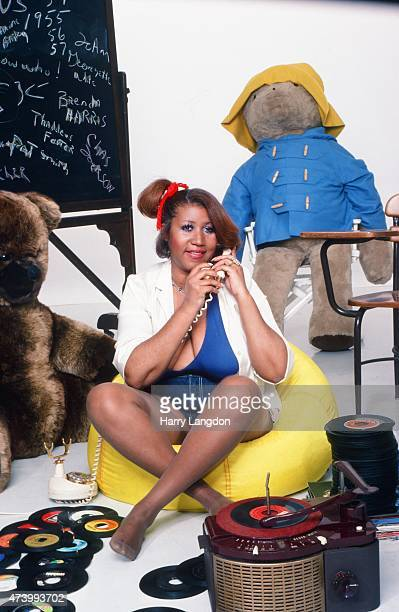 Singer Aretha Franklin poses for a portrait in 1980 in Los Angeles California
